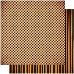 Authentique - Twilight Collection - Five, orange stripe/orange gingham - 12
