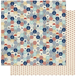 Authentique - Voyage Collection - Two, Nautical Quilt/Tiny Crab - 12
