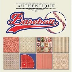 Authentique - All Star Baseball 6x6 Paper Pad