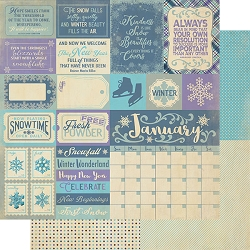 Authentique - Calendar Collection - January Sentiments - 12