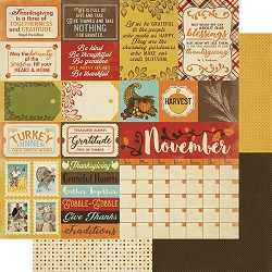Authentique - Calendar Collection - November Sentiments - 12
