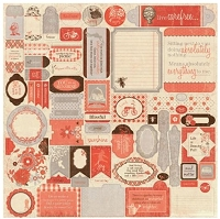 Authentique - Carefree Details 12X12 Sticker Sheet