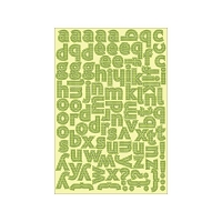 Authentique - Charmed Collection - Classic Type Alphabet Sticker