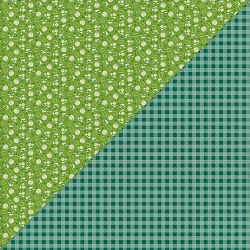 Authentique - Clover Collection - Three, green gingham/luck icons