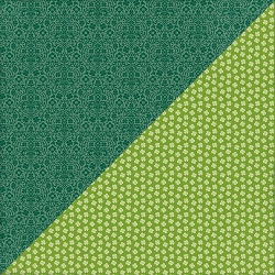 Authentique - Clover Collection - Five, small shamrocks/green damask