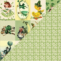 Authentique - Clover Collection - Six, cut aparts/shamrock plaid