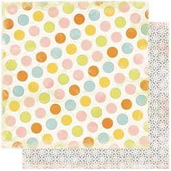 Authentique - Dreamy Collection - Two, Large dots/Petal geometric - 12