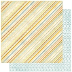Authentique - Dreamy Collection - Four, Stripes/Blue Geometric - 12