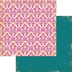 Authentique-Paper-6x6-Freebird-Cream/Pink Damask