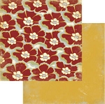 Authentique-Paper-6x6-Freebird-Red Large Floral