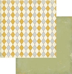Authentique-Paper-6x6-Freebird-Gold/Grey Diamond