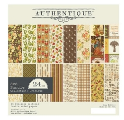 Authentique - Gracious Collection - 8x8 Paper Pad