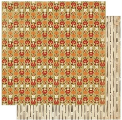 Authentique - Gracious Collection - Three, leaves/folk floral - 12