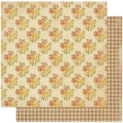 Authentique - Gracious Collection - Six, autumn plaid/fall florals - 12