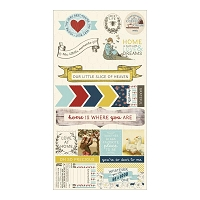 Authentique - Homestead Collection - 6X12 Component Die Cuts