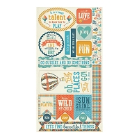 Authentique - Playful Collection - 6x12 Components Die Cuts