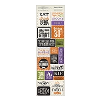 Authentique - Spirited Collection - Stamp Blocks die cut accents