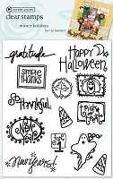 Autumn Leaves - Stampology Clear Stamps Full Sheet - Winter Holidays by Tia Bennett