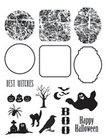 Autumn Leaves - Stampology Clear Stamps Full Sheet - Layer Spooky Shadows by Kezia Whitteker