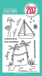 Avery Elle - Clear Stamps - Flamingo Bells