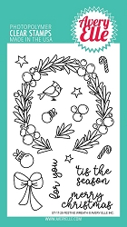 Avery Elle - Clear Stamps - Festive Wreath