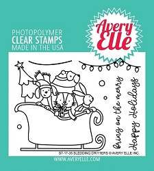 Avery Elle - Clear Stamps - Sledding Critters