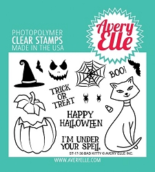 Avery Elle - Clear Stamps - Bad Kitty