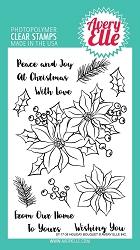 Avery Elle - Clear Stamps - Holiday Bouquet