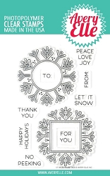 Avery Elle - Clear Stamps - Snow Tags