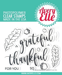 Avery Elle - Clear Stamps - Grateful