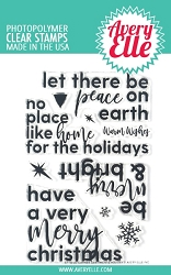 Avery Elle - Clear Stamps - Corner Sentiments Holiday