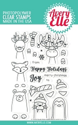 Avery Elle - Clear Stamps - Polar Peek-A-Boo Pals