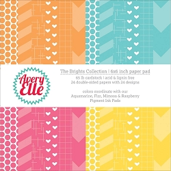 Avery Elle - 6x6 Paper Pad - The Brights Collection