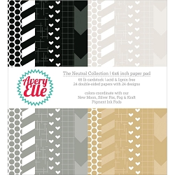 Avery Elle - 6x6 Paper Pad - The Neutral Collection