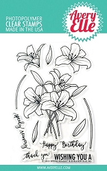 Avery Elle - Clear Stamps - Spring Bouquet