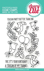 Avery Elle - Clear Stamps - Toucan Party