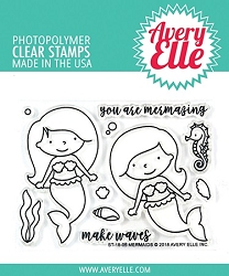Avery Elle - Clear Stamps - Mermaids