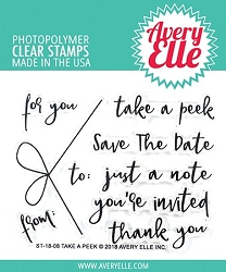 Avery Elle - Clear Stamps - Take A Peek