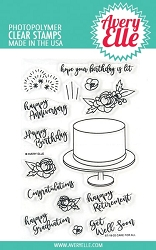 Avery Elle - Clear Stamps - Cake For All