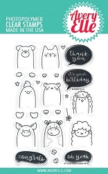 Avery Elle - Clear Stamps - Peek-A-Boo Pets