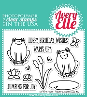 Avery Elle - Clear Stamps - Ribbit Ribbit