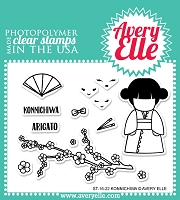 Avery Elle - Clear Stamps - Konnichiwa