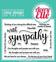 Avery Elle - Clear Stamps - With Sympathy