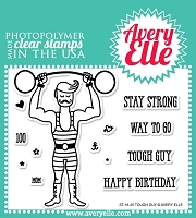 Avery Elle - Clear Stamps - Tough Guy
