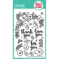 Avery Elle - Clear Stamps - Floral Frame