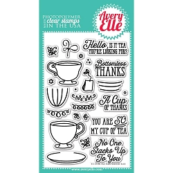 Avery Elle - Clear Stamps - Tea Time