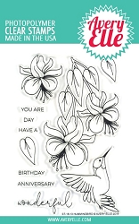 Avery Elle - Clear Stamps - Hummingbird