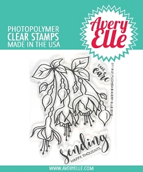 Avery Elle - Clear Stamps - Fuchsia