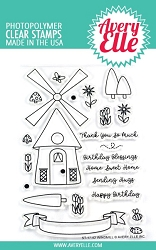 Avery Elle - Clear Stamps - Windmill