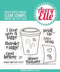 Avery Elle - Clear Stamps - Cool Beans